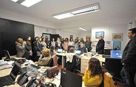 Srednoskolci vo poseta na redakcijata na Nova Makedonija